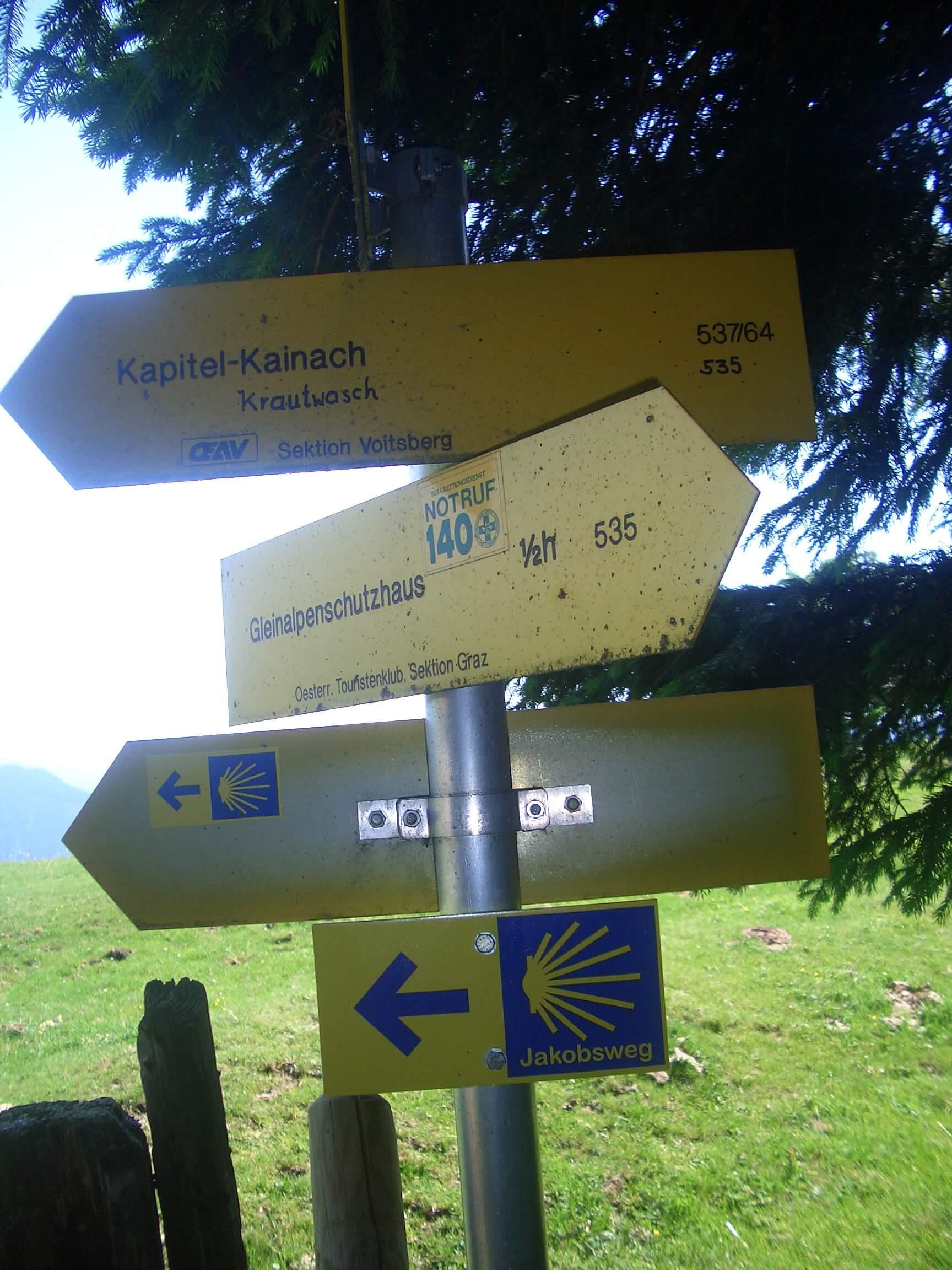 Weg zum Gleinalm Schutzhaus von der Brendl